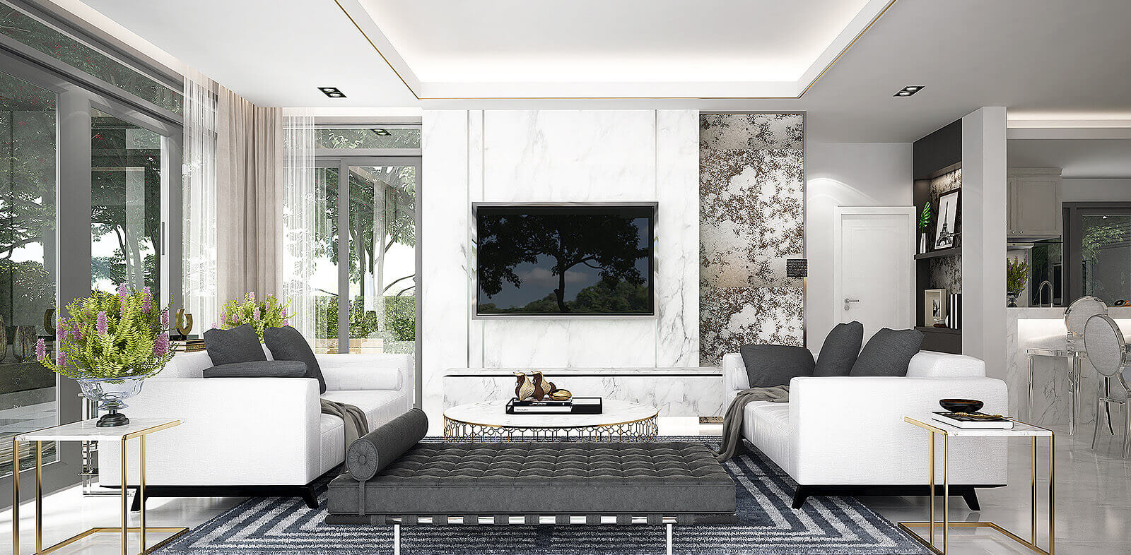 central florida luxury home living room